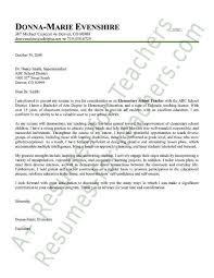 cover letter for teaching positions teaching job cover letter