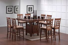 coaster mix and match counter height dining table set with storage