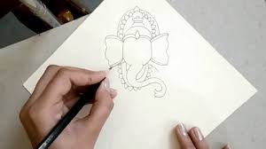 how to draw the sitting hindu god ganesha step by step drawing