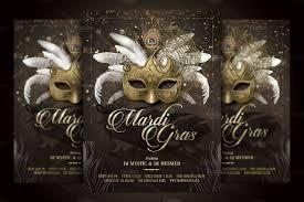 mardi gras masquerade ball flyer flyer templates creative market