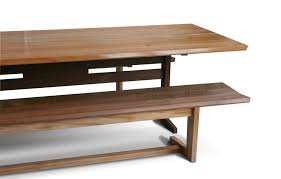 trestle dining table with bench kates trestle benches city joinery