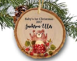 personalized christmas ornaments baby etsy