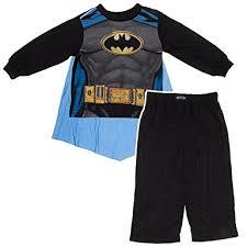 ame sleepwear boys black batman pajamas with