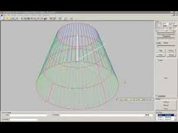 free download cone layout software cone development flat disc to cylinder youtube