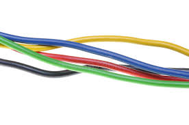colorful electric wires royalty free stock images image 29126099