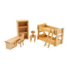 Bedroom Sets Natural Wood Dollhouse Kids Bedroom Furniture In Wooden Toys U2013 Nova Natural