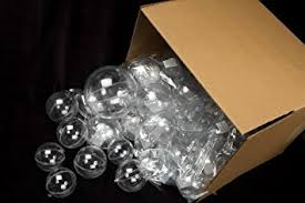 bulk of 24 clear acrylic 100mm fillable keepsake