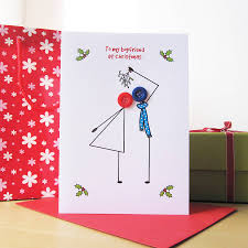 lovely christmas card sayings for boyfriend with angel love