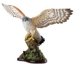 kestrel bird ornament bird of prey figurine kestrel bird
