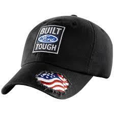 American Flag Flat Bill Hat Built Ford Tough American Flag Black Cap Patriotic Design