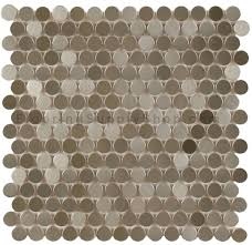 mosaics metal tile penny round by flooringsupplyshopcom with  from flooringsupplyshopcom