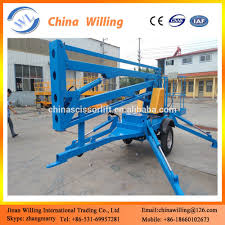10m diesel trailer boom lift bucket truck articulated boom lift