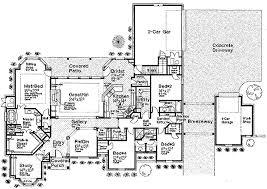 House Plans With Breezeway European Style House Plan 4 Beds 4 50 Baths 3423 Sq Ft Plan 310 230