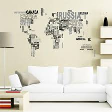 wall stickers buy discount francais free shipping 108cm 65cm creative letter world map quote removable decal mural home decor wall stickers