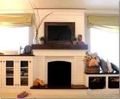 Decorative Flat Screen Tv Covers Remodelaholic Framing In A Wall Mount Television