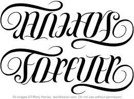 always forever ambigram v 1 tatting and ambigram
