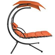 Hanging Chaise Lounge Chair Best Choice Products Hanging Chaise Lounger Chair Arc Stand Air