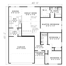 traditional style house plan 3 beds 2 00 baths 1250 sq ft plan