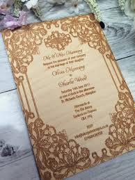 vintage border wood engraved wedding invitation u2013 alice jade designs