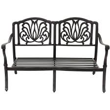 Cast Aluminum Outdoor Furniture Manufacturers Rosedown Cast Aluminum Patio Loveseat By Lakeview Outdoor Designs