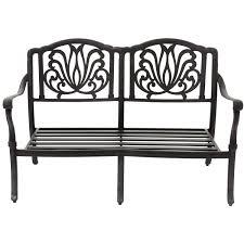 Best Cast Aluminum Patio Furniture - rosedown cast aluminum patio loveseat by lakeview outdoor designs