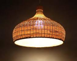Bamboo Ceiling Light Bamboo Light Fixture Etsy