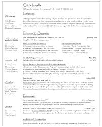 Teen Job Resume Resume For Cosmetology Instructor Free Resume Example And