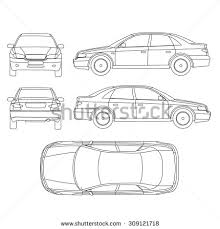 car damage report template car line draw insurance rent damage stock vector 309121715