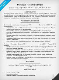 Example Objectives For Resume by Paralegal Resume Sample U0026 Writing Tips Resume Companion