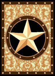 Cowboy Area Rugs Texas Western Star Rustic Cowboy Decor Area Rug 626 Gold Ebay
