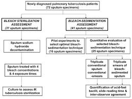 evaluation of bleach sedimentation for sterilising and