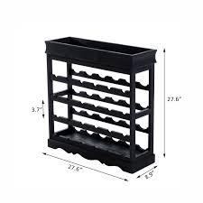 homcom 4 tier wine storage rack 24 bottle display shelves