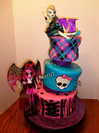 monster high decorations with a stunning design on a birthday cake