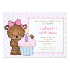 teddy bear birthday party invitations u0026 announcements zazzle