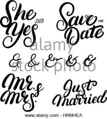 wedding quotes calligraphy she said yes written lettering quote for greeting or