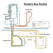 Rutgers Map I Made A Map Of Bus Routes Because I U0027m Always Confused By A And H