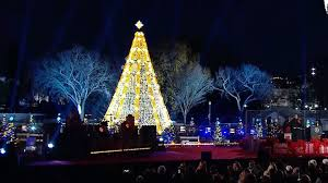 obama family lights national christmas tree today com