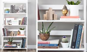 lighting for top of bookcases how to decorate shelves u0026 bookcases overstock com