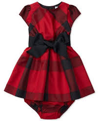 ralph baby plaid fit flare dress dresses