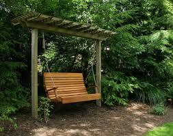 unique wooden pergola patio swing then royal highback porch swing