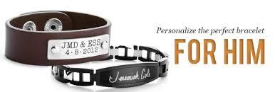 Customized Engraved Bracelets Mens Engraved Bracelets