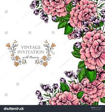 Flowers For Wedding Vintage Delicate Invitation Flowers Wedding Marriage Stock Vector