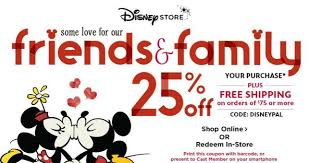 disney store 25 friends family sale including clearance