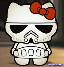 learn draw stormtrooper kitty characters pop