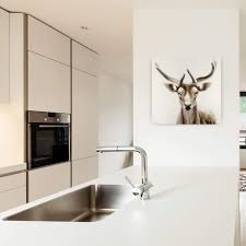 Wohnzimmerm El Modern Weiss Acryl Gemälde U0027hirsch Modern Weiss U0027 Handgemalt Leinwand Bilder