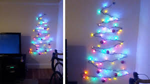 beautiful christmas tree on wall with lights 14 for wall light