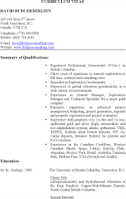 resume help vancouver geologist resume resume for your job application professional geologist resume