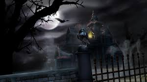 halloween wallpaper haunted house the art mad
