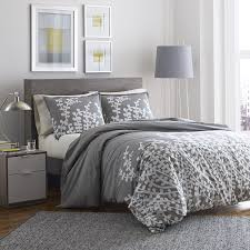 com city scene branches gray cotton duvet cover set full queen gray home kitchen