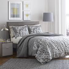 com city scene branches gray cotton duvet cover set full queen gray home kitchen
